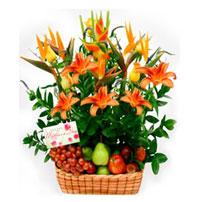 Fruit and Flowers Basket for Mom - Brasil